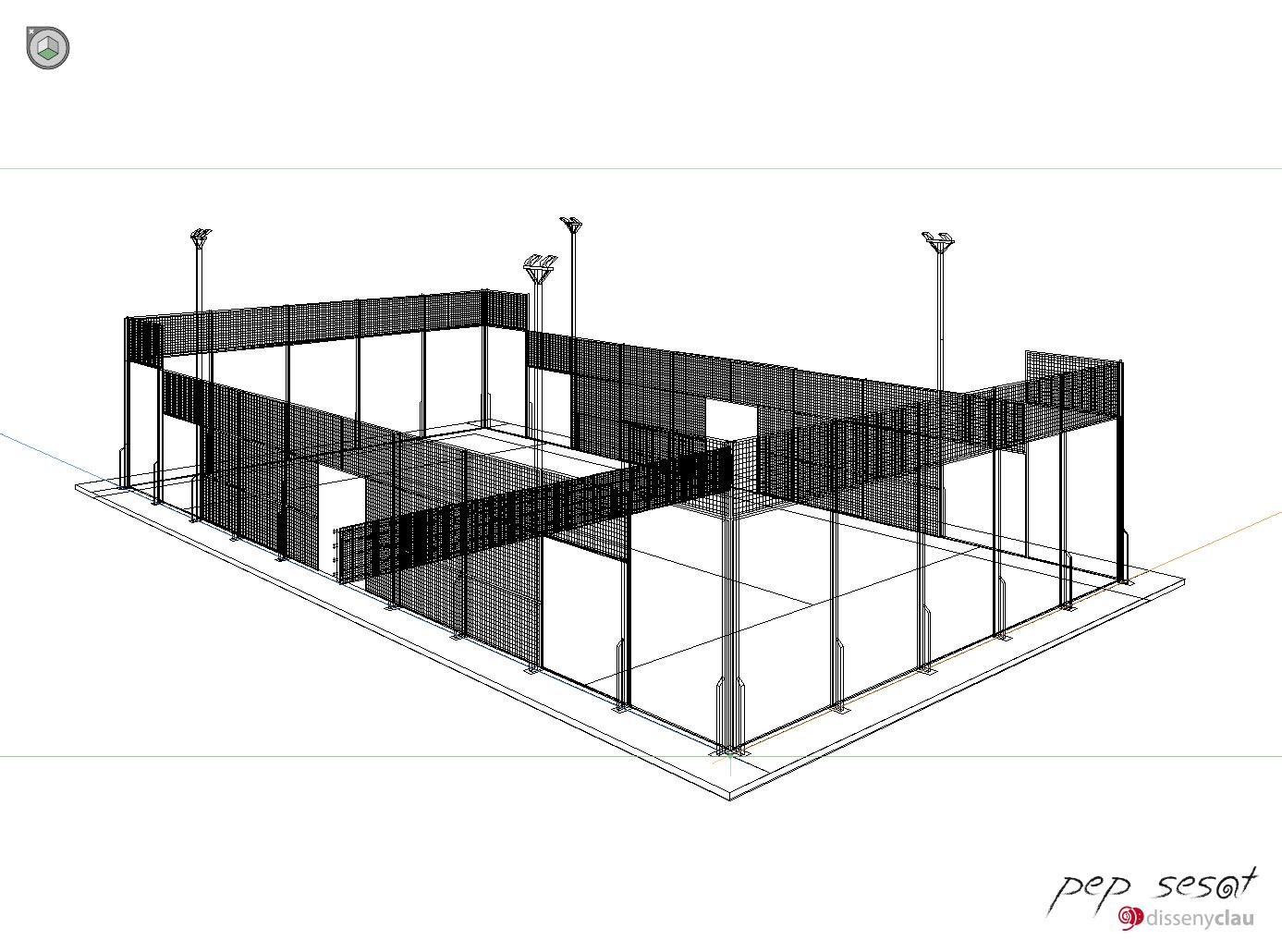 Panelats i estructura de primer plà